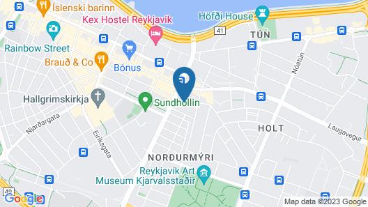 Fosshotel Lind Map