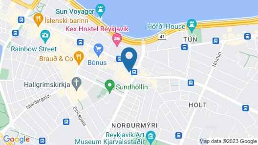 Center Hotels Laugavegur Map