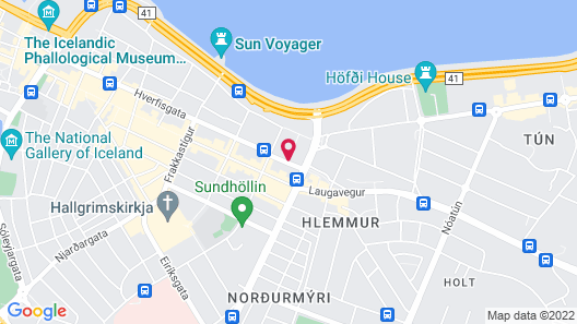 Skuggi Hotel by Keahotels Map