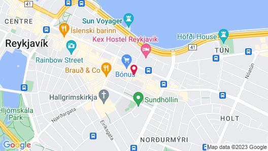 Alda Hotel Reykjavik Map