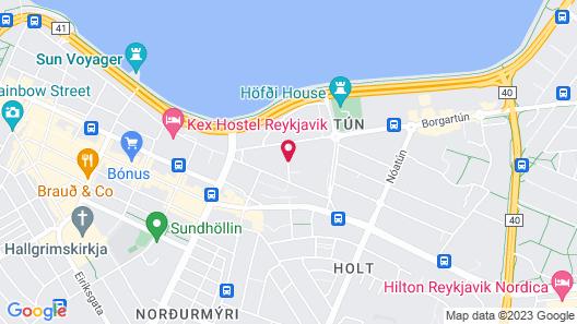 Fosshotel Reykjavik Map