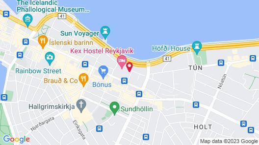 Fosshotel Barón Map
