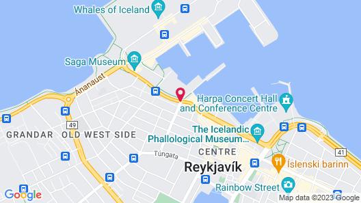 Icelandair Hotel Reykjavik Marina Map