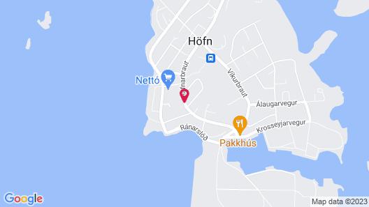 Höfn guesthouse Map