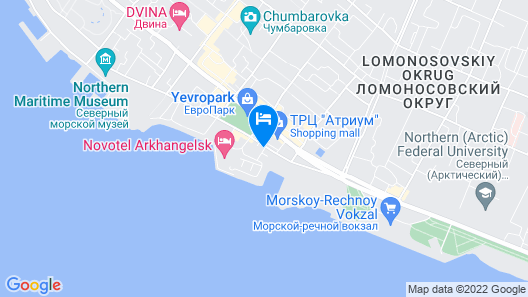 Novotel Arkhangelsk Hotel Map