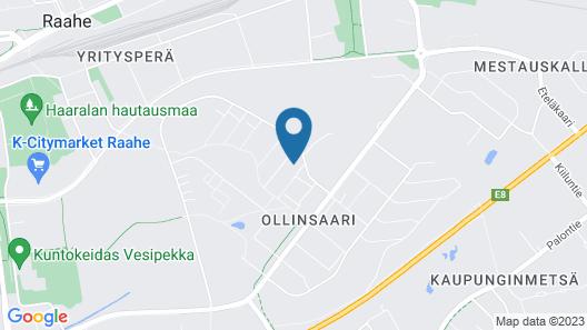 Three bedroom apartment in Raahe Map