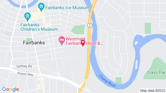 Clarion Hotel & Suites Fairbanks near Ft. Wainwright Map