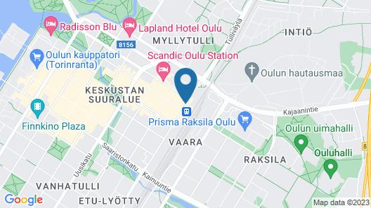 Oulu Hotelli Apartments Map