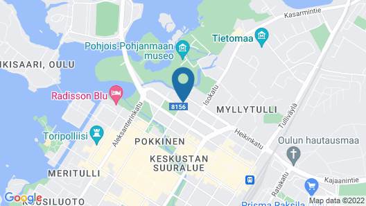 Lapland Hotels Oulu Map