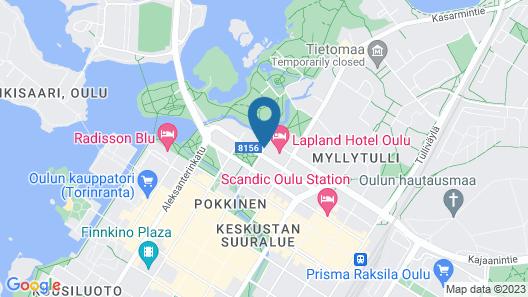 Lapland Hotels Oulu Map