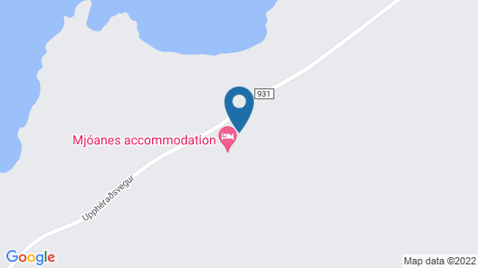 Mjóanes accomodation Map