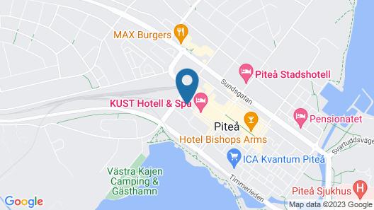 KUST Hotell & Spa Map