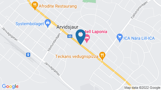 Hotell Laponia Map