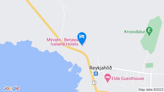 Icelandair Hotel Myvatn Map