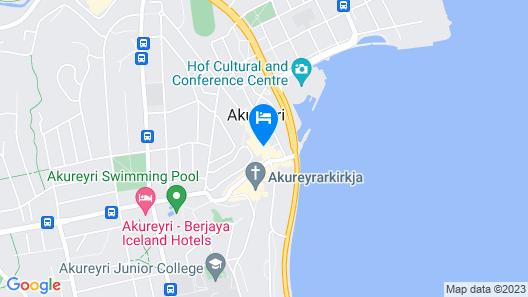 Akureyri Backpackers Map