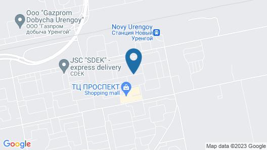 Hotel Amaks Polyarnaya Zvezda Map