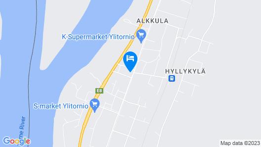Hotel Kievari Ylitornio Map