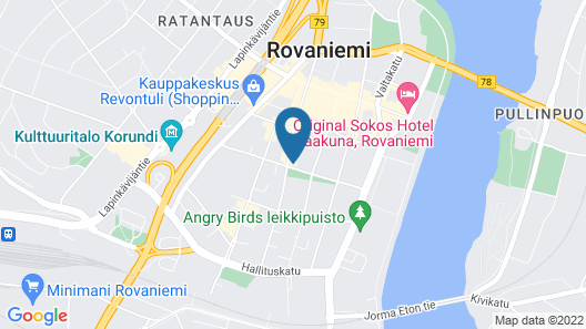 Kotimaailma Apartments Rovaniemi Map