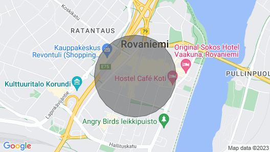 The Luxury Downtown Rovaniemi Map