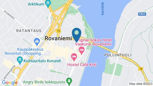 Nordica Design Residence Rovaniemi Map