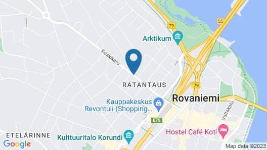 Santa's Hotel Rudolf Map