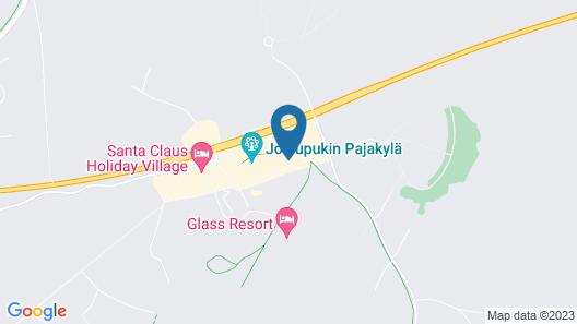 Santa's Igloos Arctic Circle Map