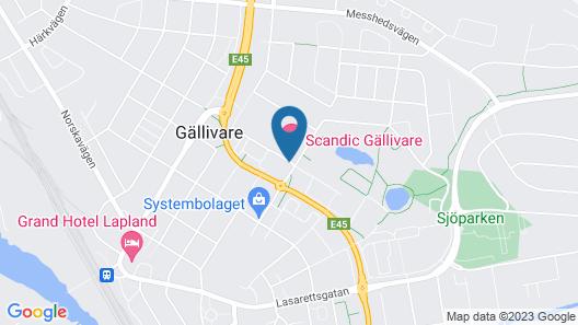 Scandic Gallivare Map
