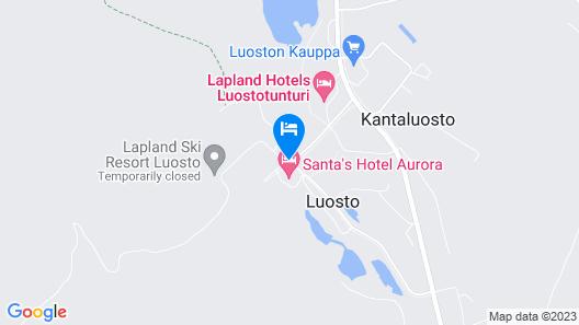 Lapland Hotels Luostotunturi Map