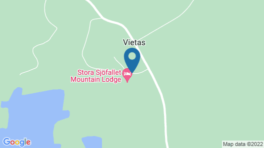 Stora Sjöfallet Mountain Center Map