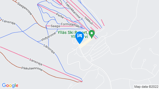 Lapland Hotels Saaga Map