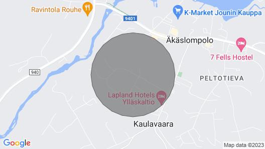 Perinteinen Hiihtomökki Kauniissa Metsäympäristössä Akaslompolossa, Yllas Map