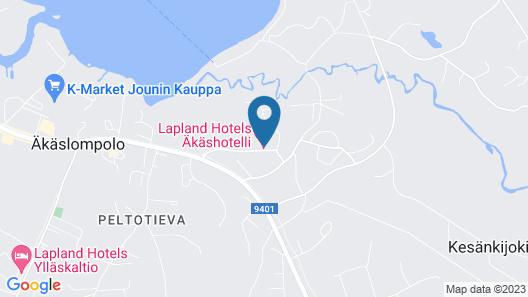 Lapland Hotels Akashotelli Map