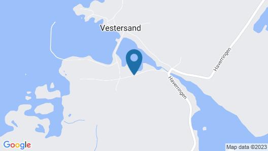 Steinbakk - Vestresand Lofoten Map