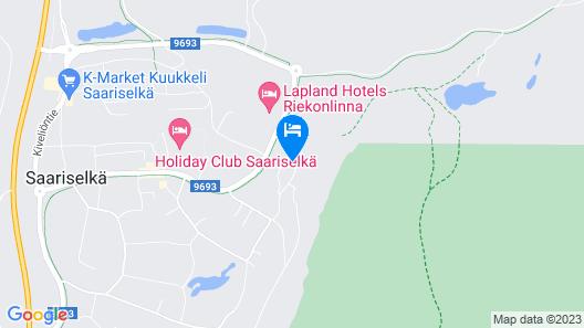 Santa's Hotel Tunturi Map