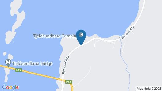 Tjeldsundbrua Camping Map