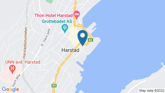 F2 Hotel Harstad Map