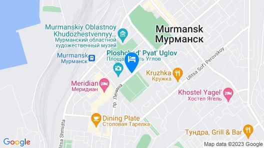 AZIMUT Hotel Murmansk Map