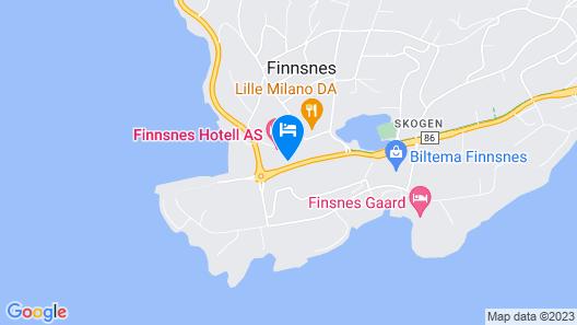 Senja Hotell Map