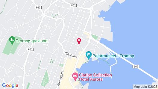 Tromso Activities Hostel Map