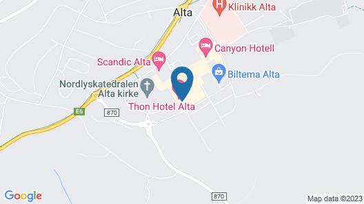Thon Hotel Alta Map