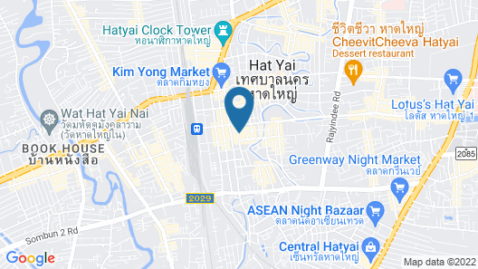 Grand Pink Hotel Hat Yai Map