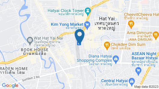The Train Hotel Hatyai Map