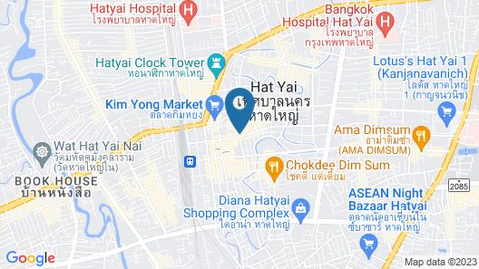 Mayflower Grande Hotel Hat Yai Map