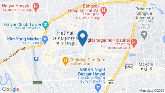 S Hadyai Hotel Map
