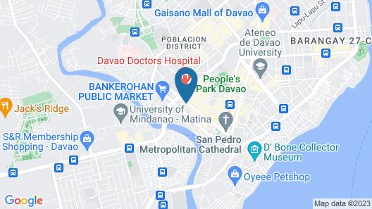 D' Morvie Suites- Davao Map