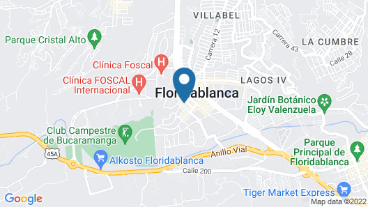 Hotel Roseliére Bucaramanga Map