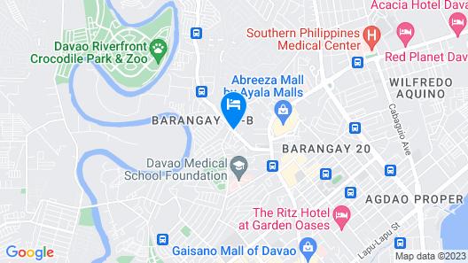RedDoorz Plus near Abreeza Mall Davao Map
