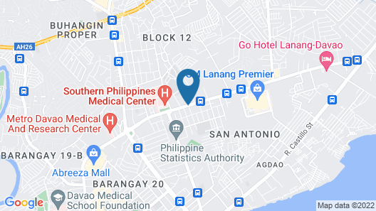 Red Planet Davao Map