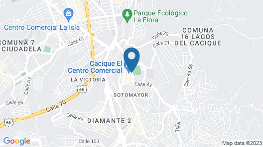 Holiday Inn Bucaramanga Cacique Map