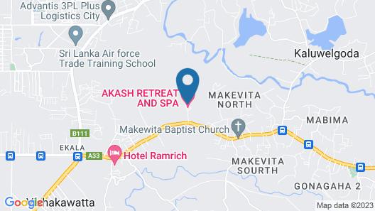 Akash Retreat And Spa Map